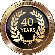 40 year anniversary badge