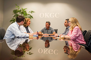 OKGC Staff at conference table